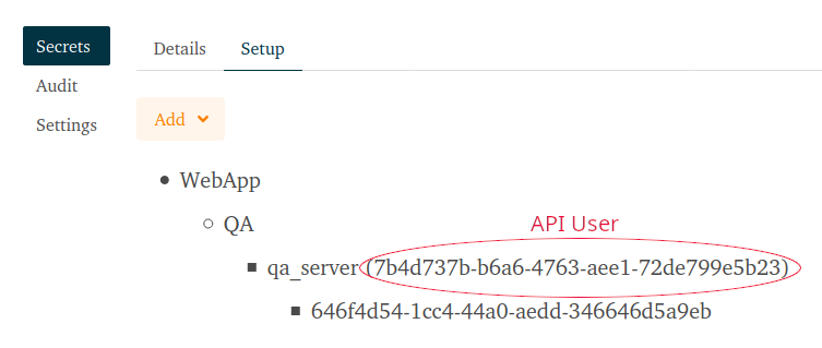 Finding the API user id.